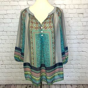 Fig and Flower Anthropologie blouse